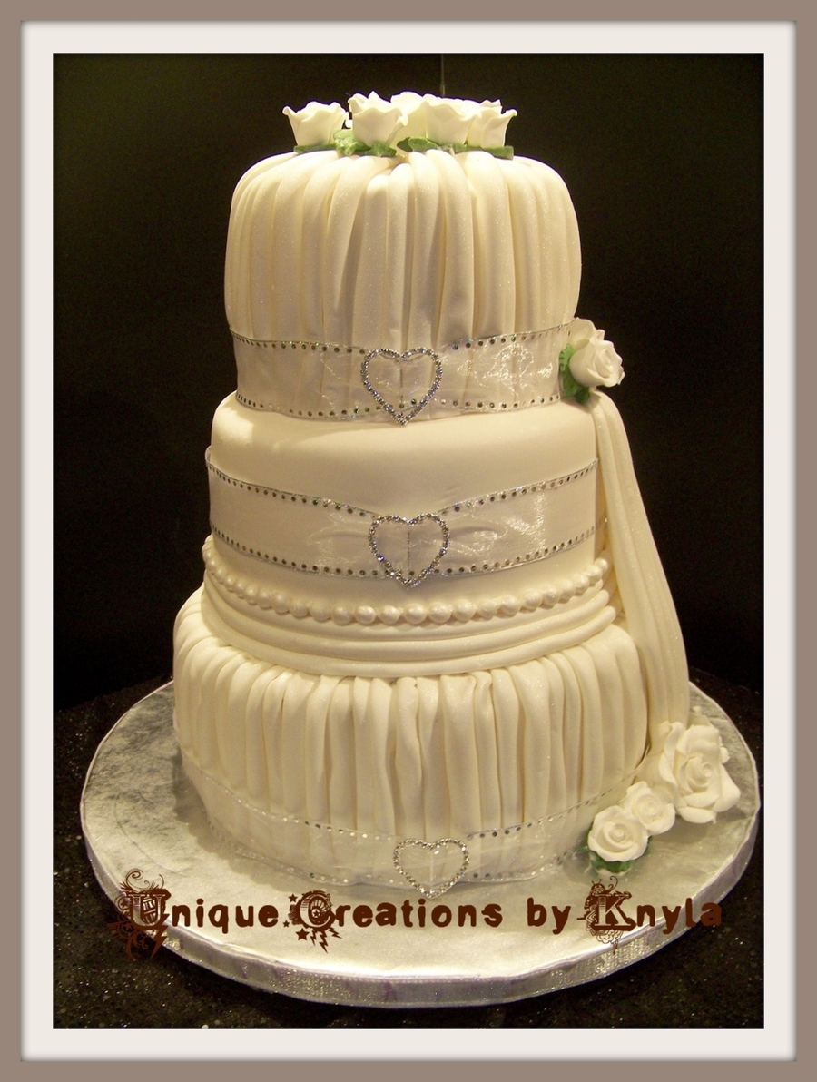 Pleated Wedding Cake Tutorial