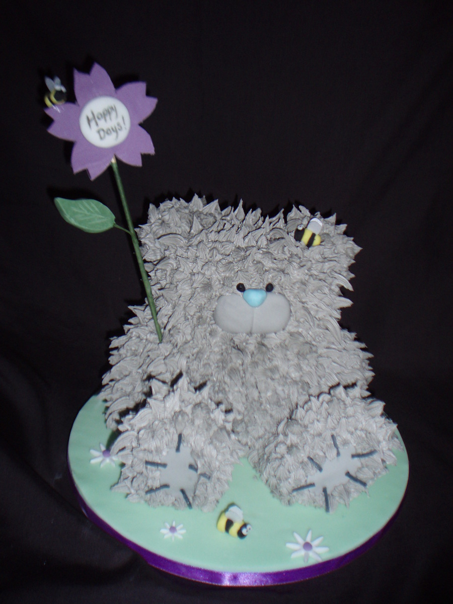 Mums Tatty Teddy Retirement Cake That She Was Reluctant To Cut on Cake Central