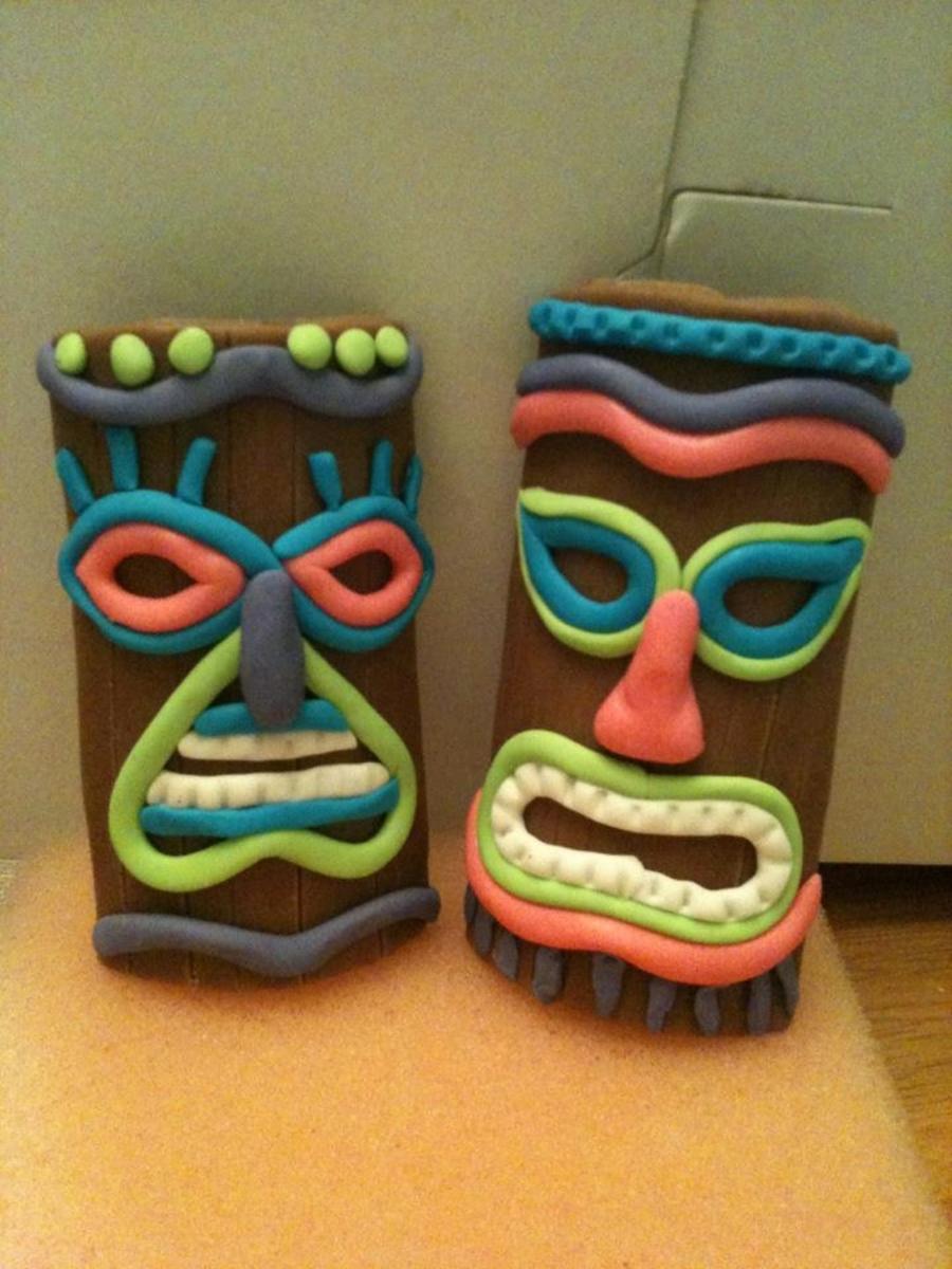 Tiki Mask Cake Topper