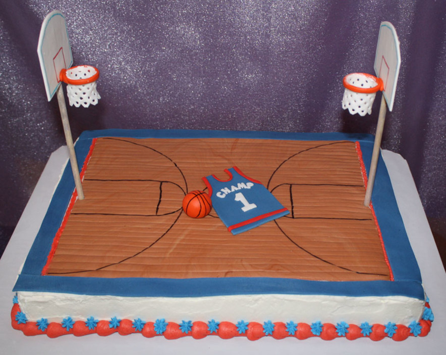 Basketball court cake for How to build a basketball goal