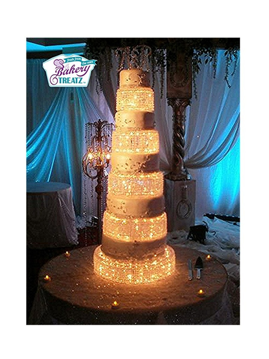 wedding cake lights lighted tale wedding cake cakecentral 23086