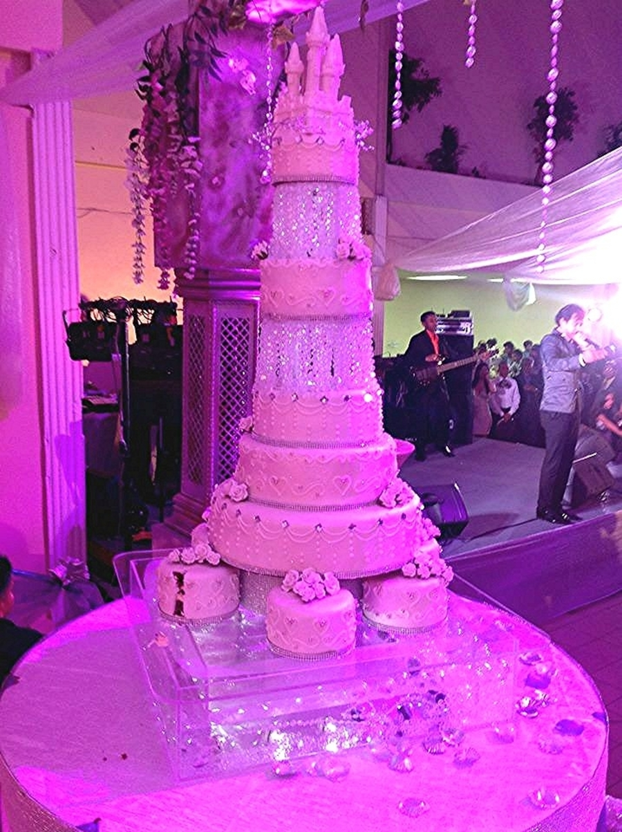 Crystal Wedding Cake on Cake Central