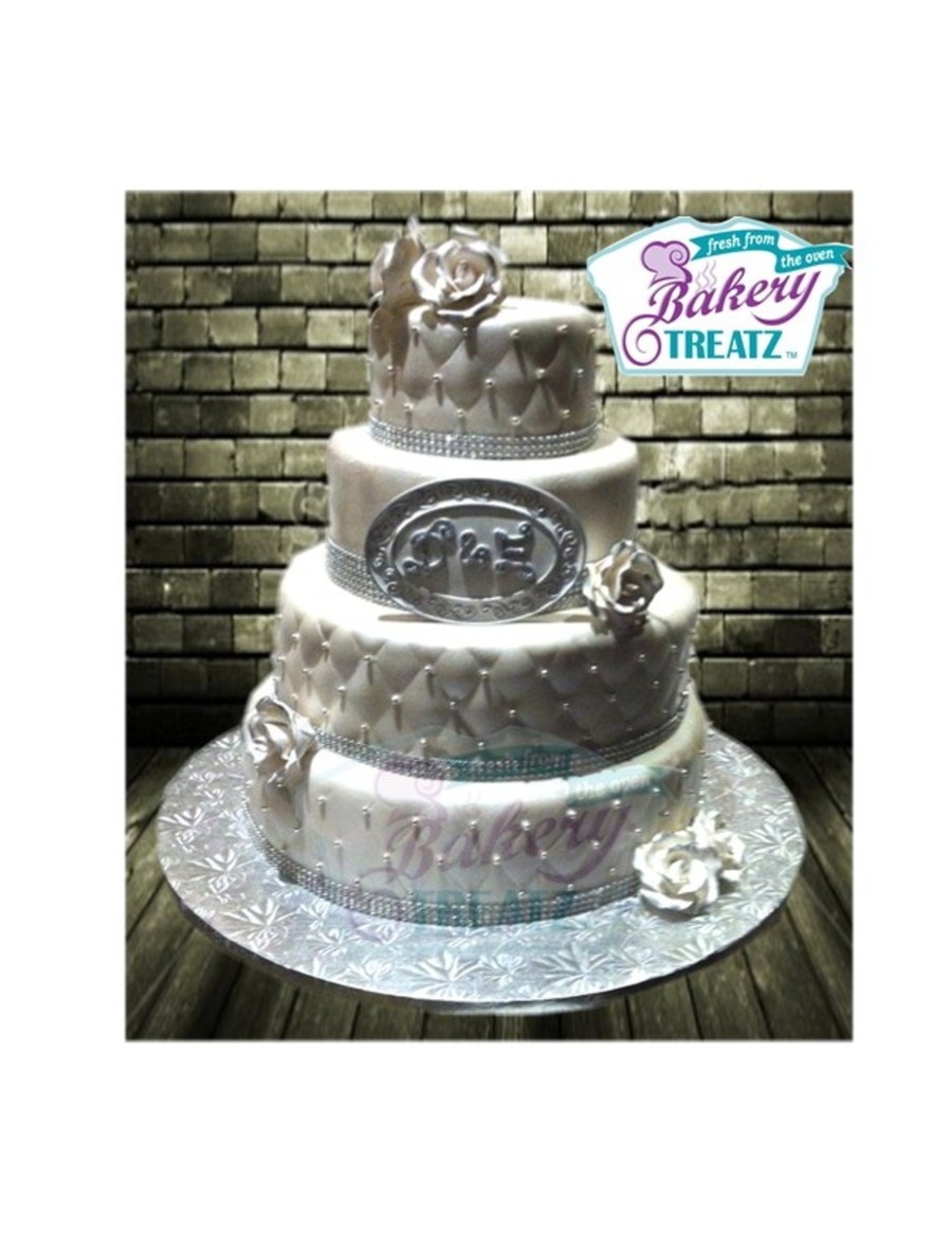 White Rouind Tiered Wedding Cake on Cake Central