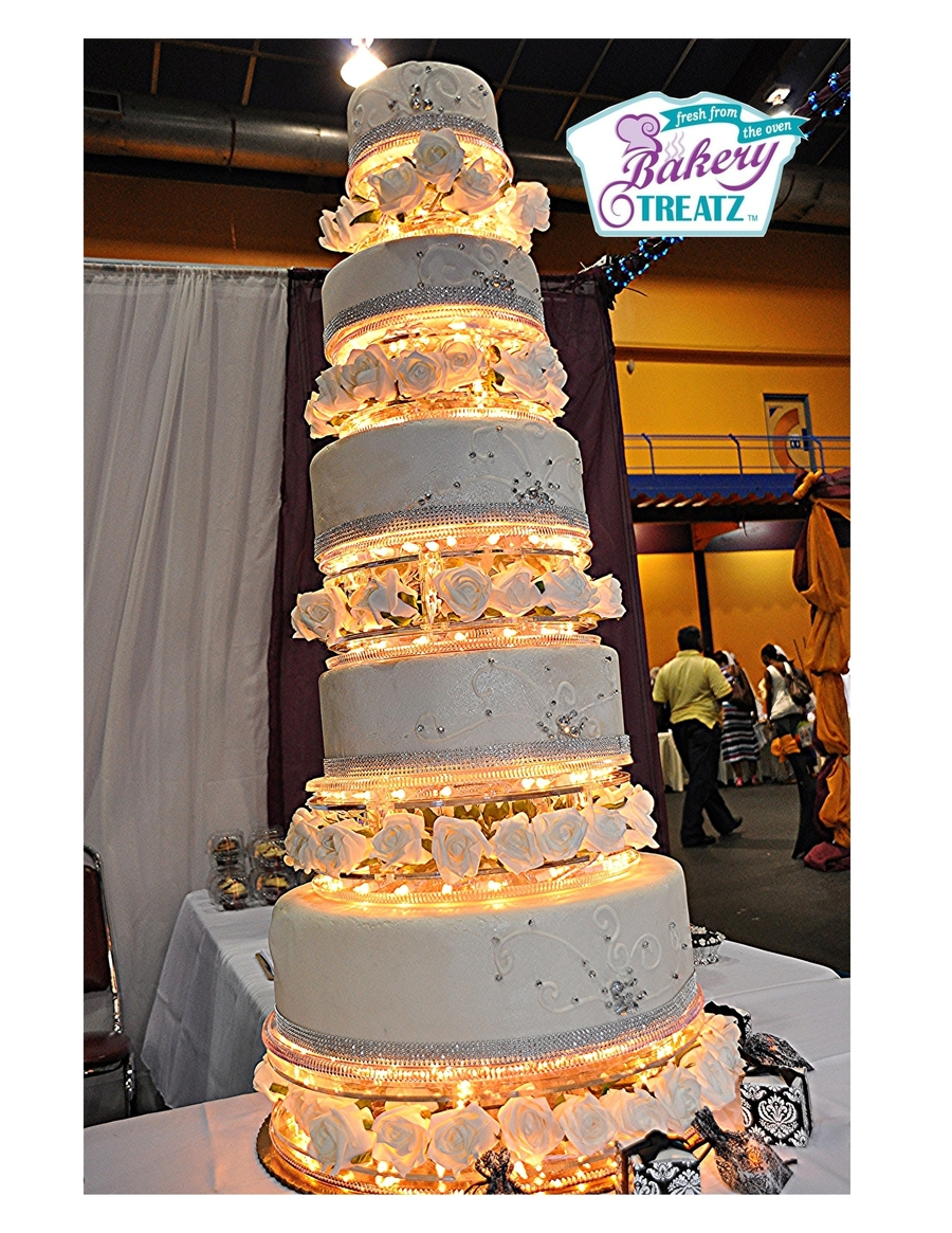 Lighted Crystal Wedding Cake on Cake Central