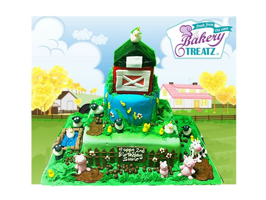 Farm Cake All The Little Animals Are Made Out Of Fondant Theyre So Cute No One Could Eat Tham on Cake Central