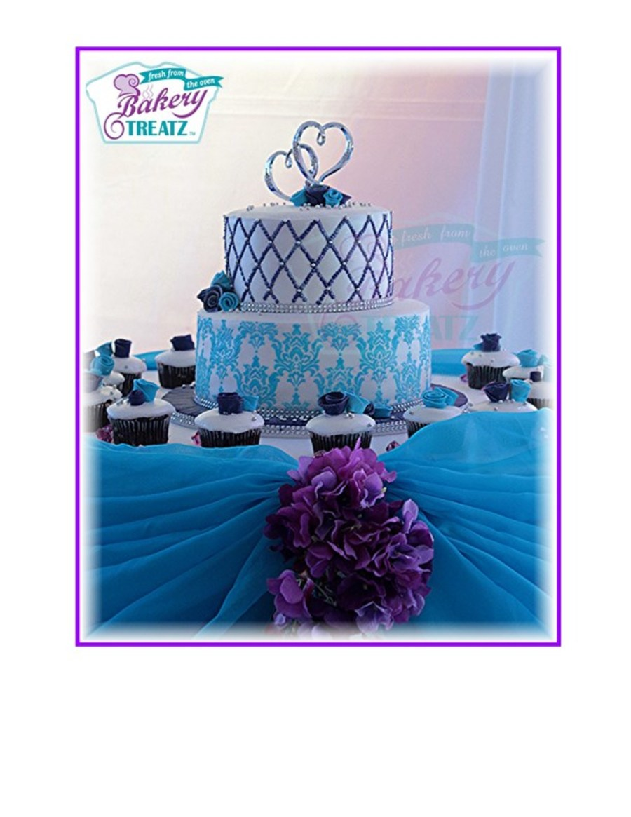 Round Blue And Purple Wedding Cake - CakeCentral.com