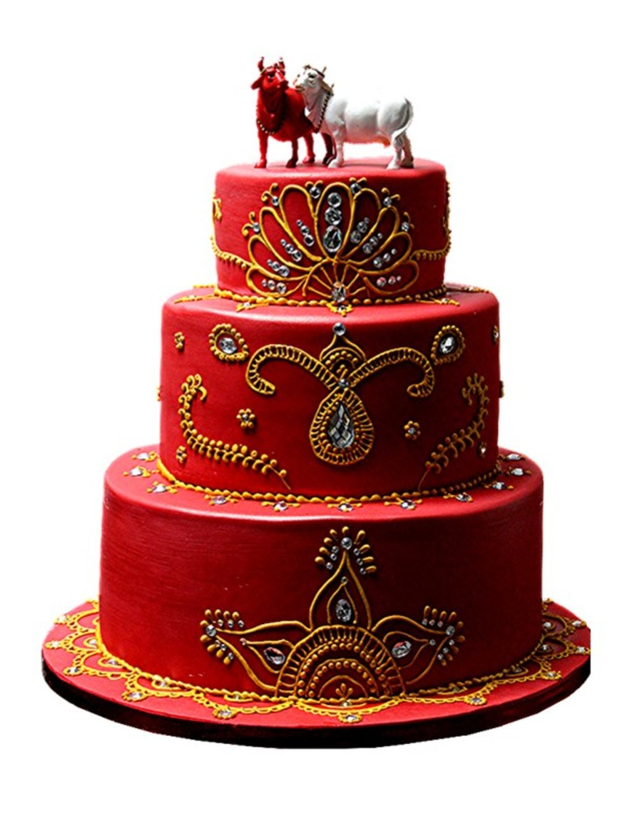 Red Indian Wedding Cake on Cake Central