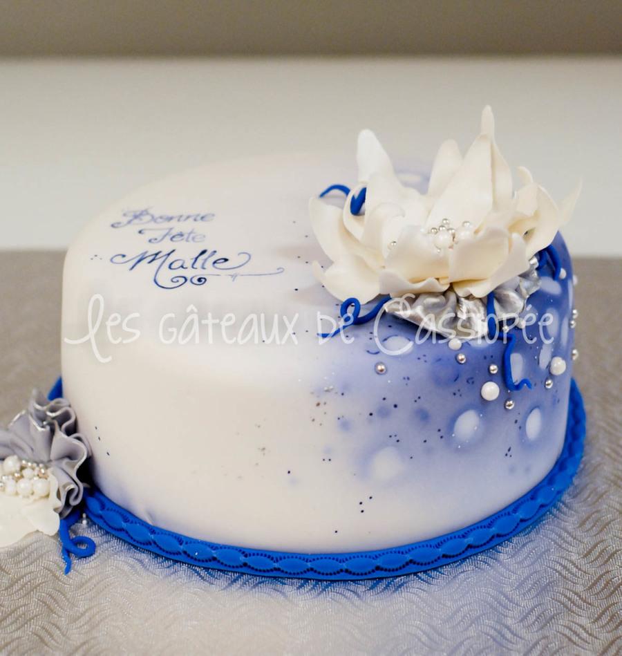 Blue Birthday Cake - CakeCentral.com