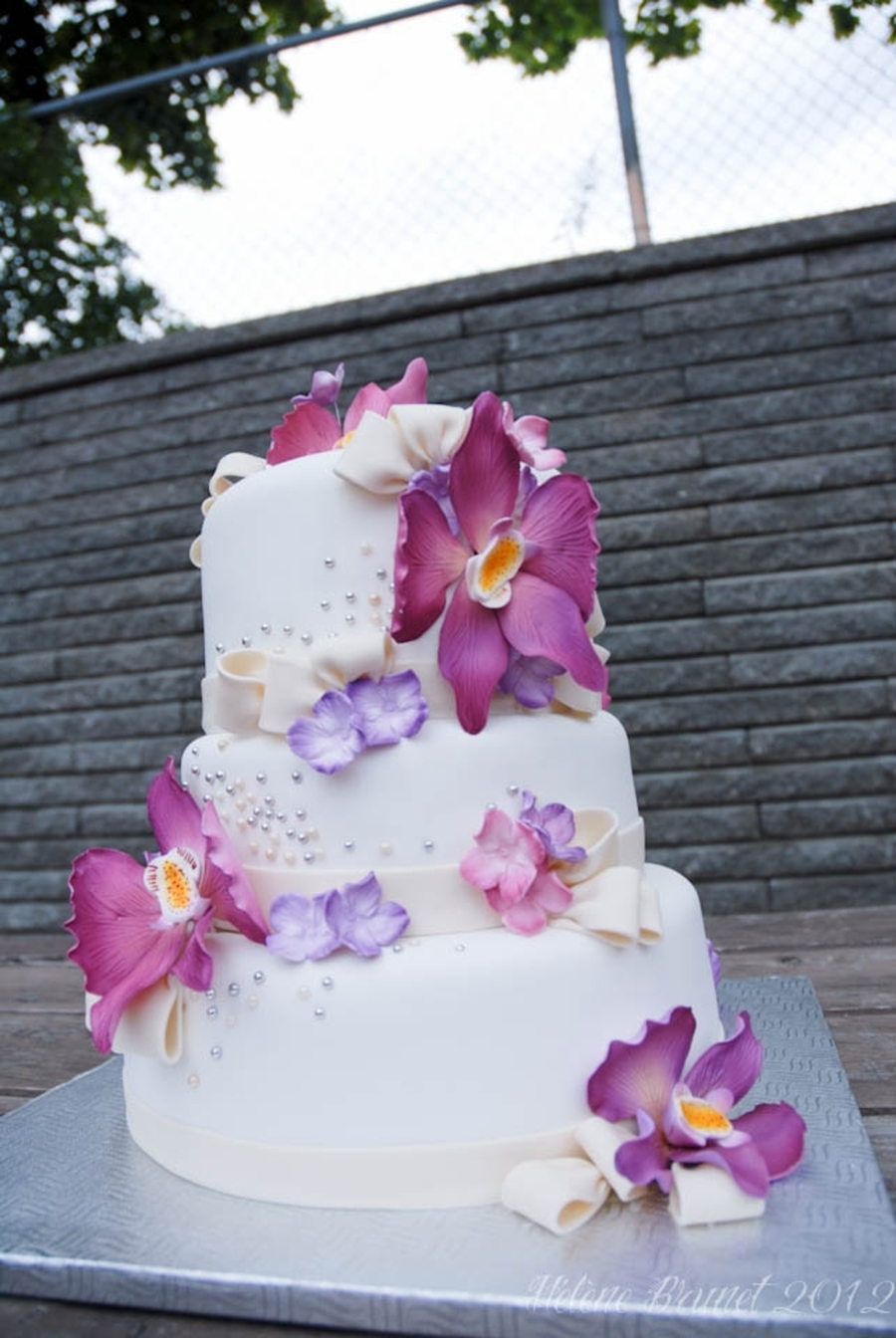 purple orchid wedding cake purple orchids wedding cake cakecentral 6900