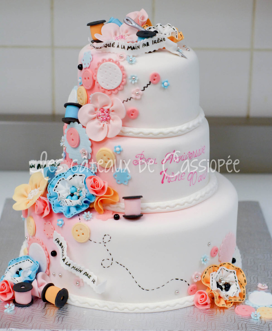 Sewing Themed Cake Cakecentral Com