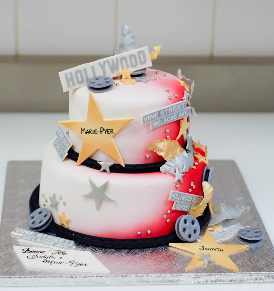 Enjoyable Hollywood Theme Birthday Cake Cakecentral Com Funny Birthday Cards Online Elaedamsfinfo