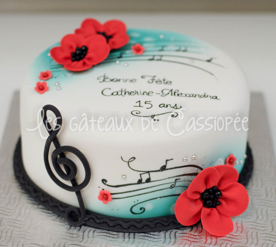 Red And Turquoise Birthday Cake CakeCentralcom