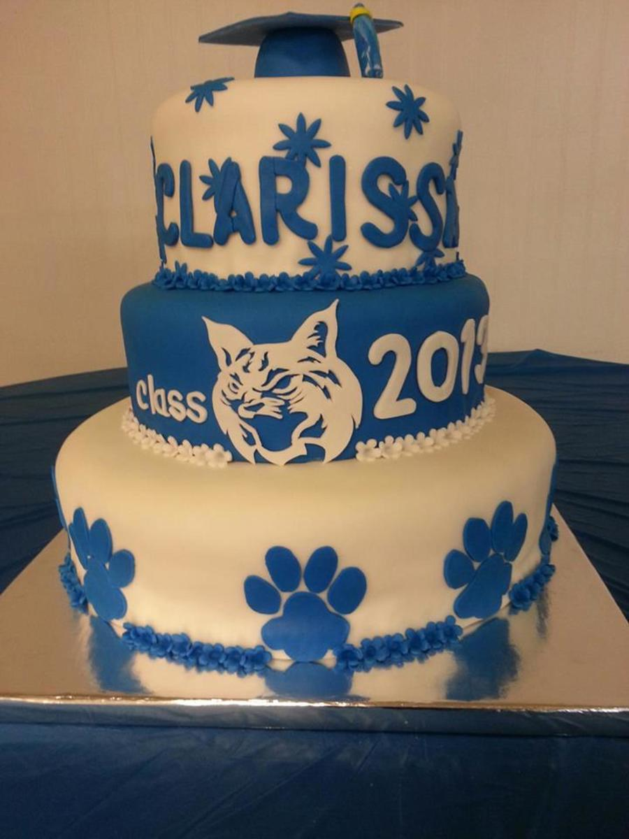 Bobcat Graduation Cake Cakecentral Com