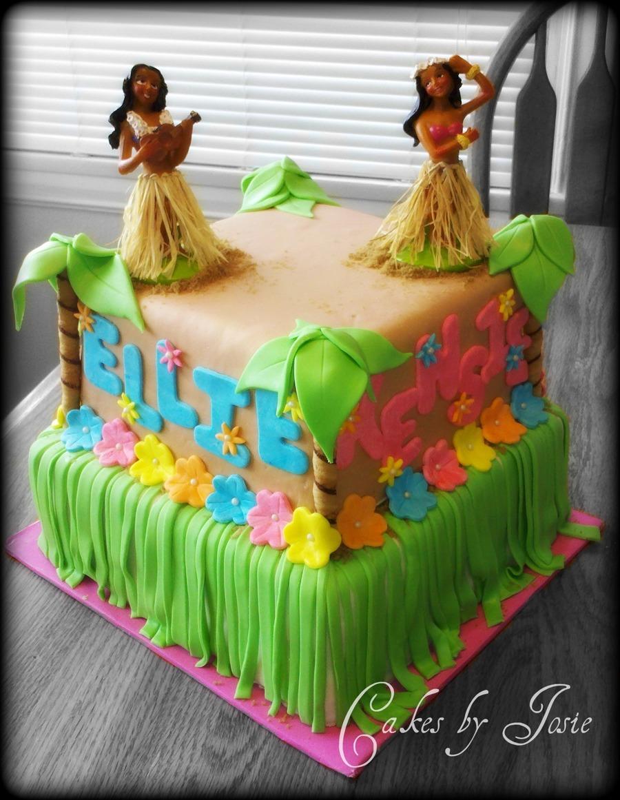 Tropical Island Birthday Cakes