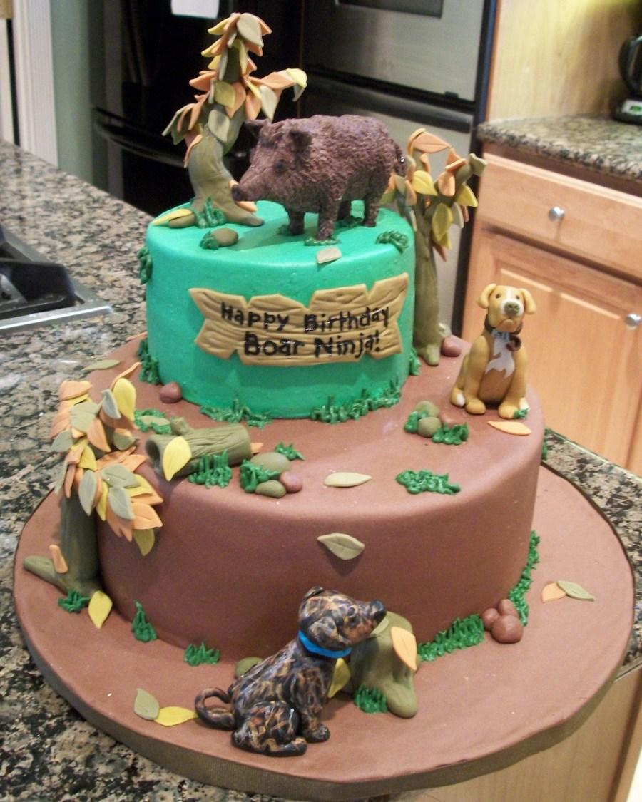 Boar Hunting Birthday Cake Cakecentral Com