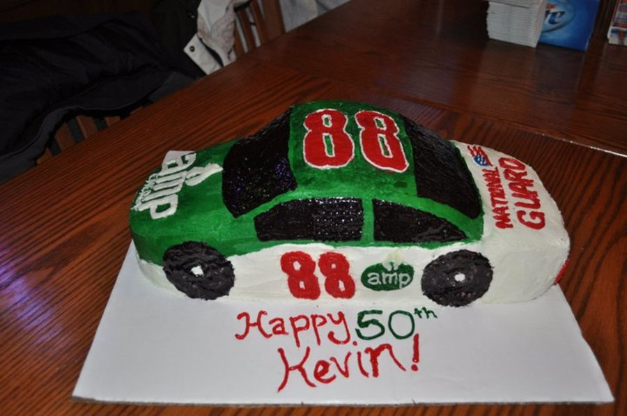 Dale Ernhardt Jr. Racecar Cake on Cake Central