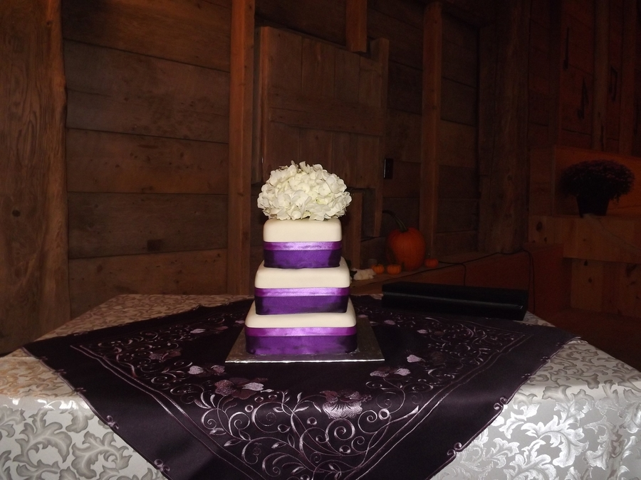 Hydrangea Wedding Cake  on Cake Central
