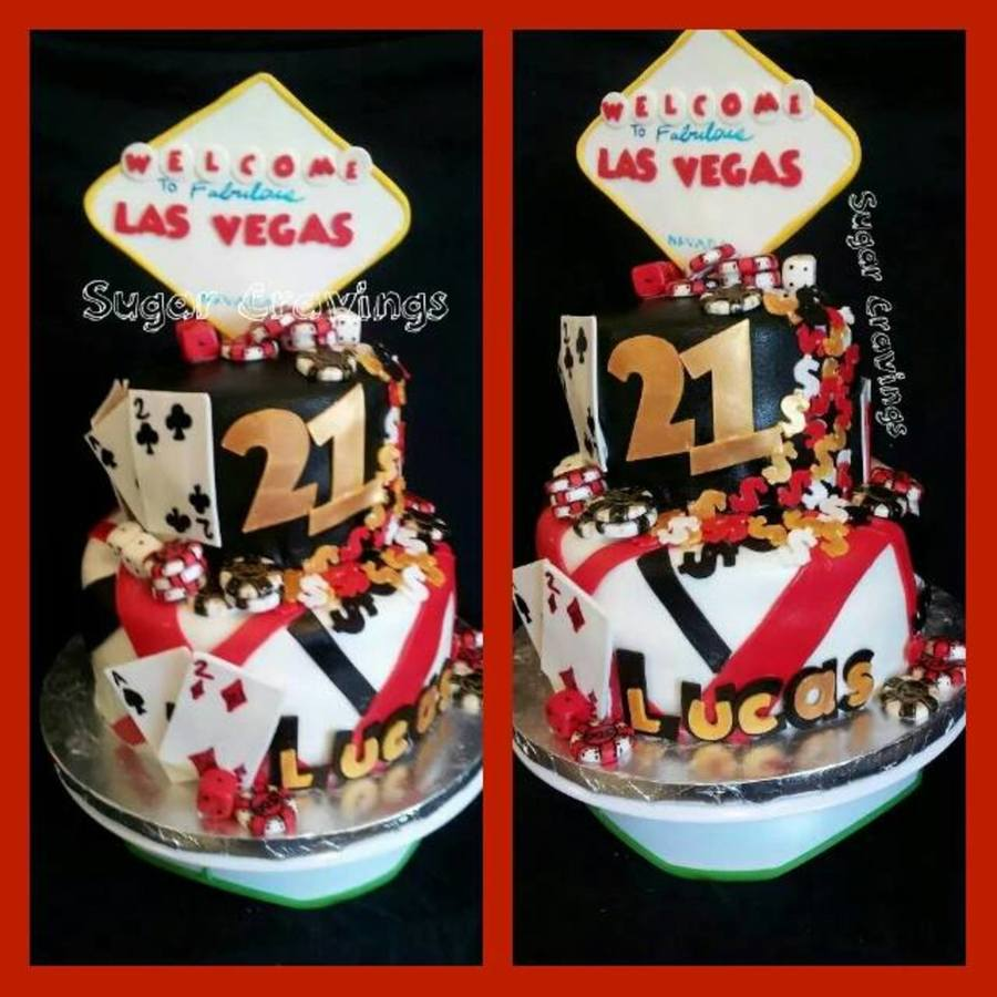 Vegas Themed Birthday Cake CakeCentralcom
