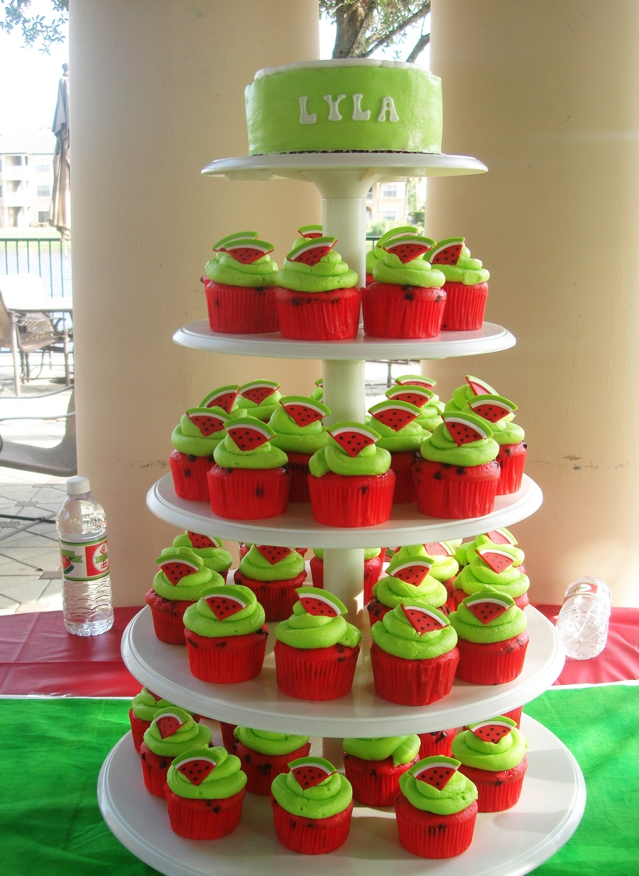 Watermelon Cupcake Tower Cakecentral Com