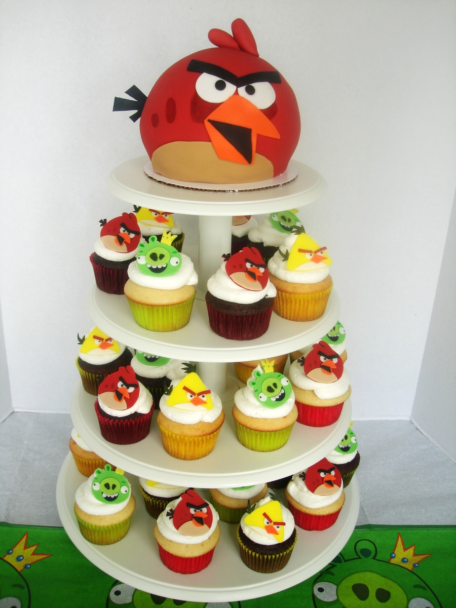 Angry birds edible cupcake images