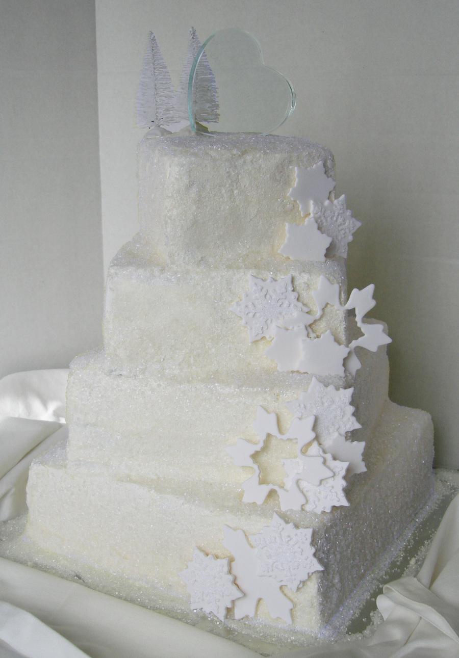 Snowflake Wedding Cake - CakeCentral.com