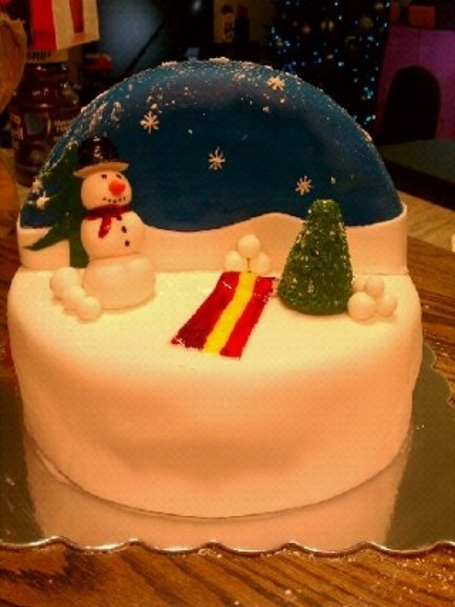 Christmas Globe on Cake Central