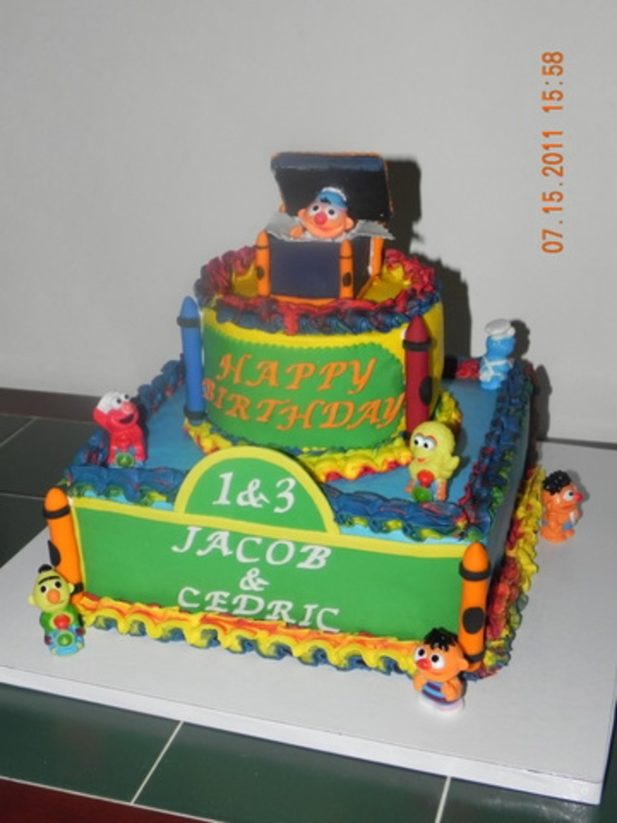 Sesame Street Themed Cake on Cake Central