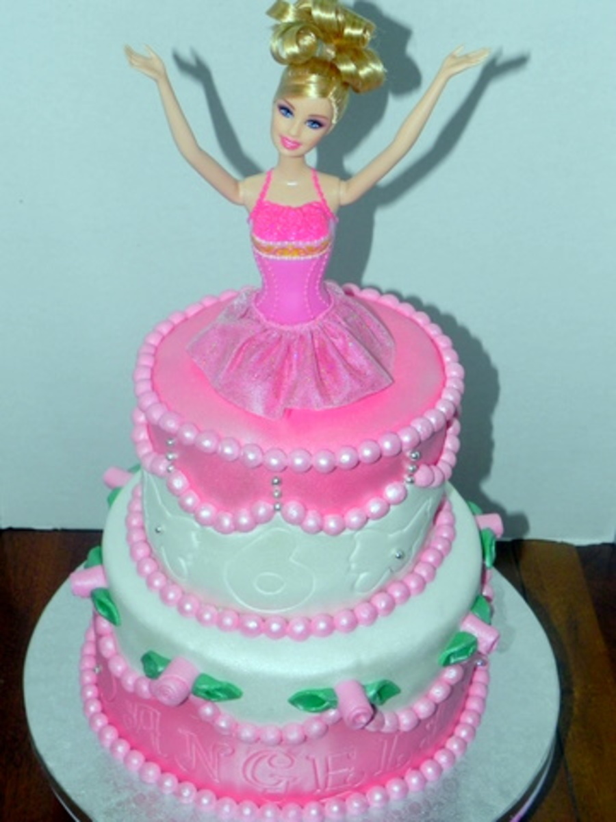 Two Tier Barbie Cake CakeCentralcom