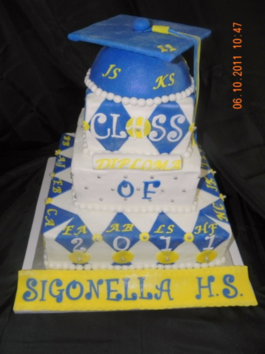 Sigonella High School Senior Class Graduation Cake on Cake Central