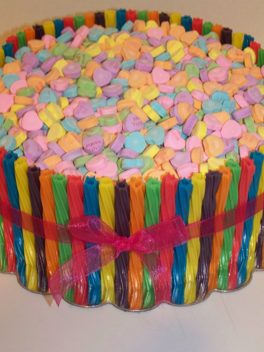 Valentine's Candy Barrel on Cake Central