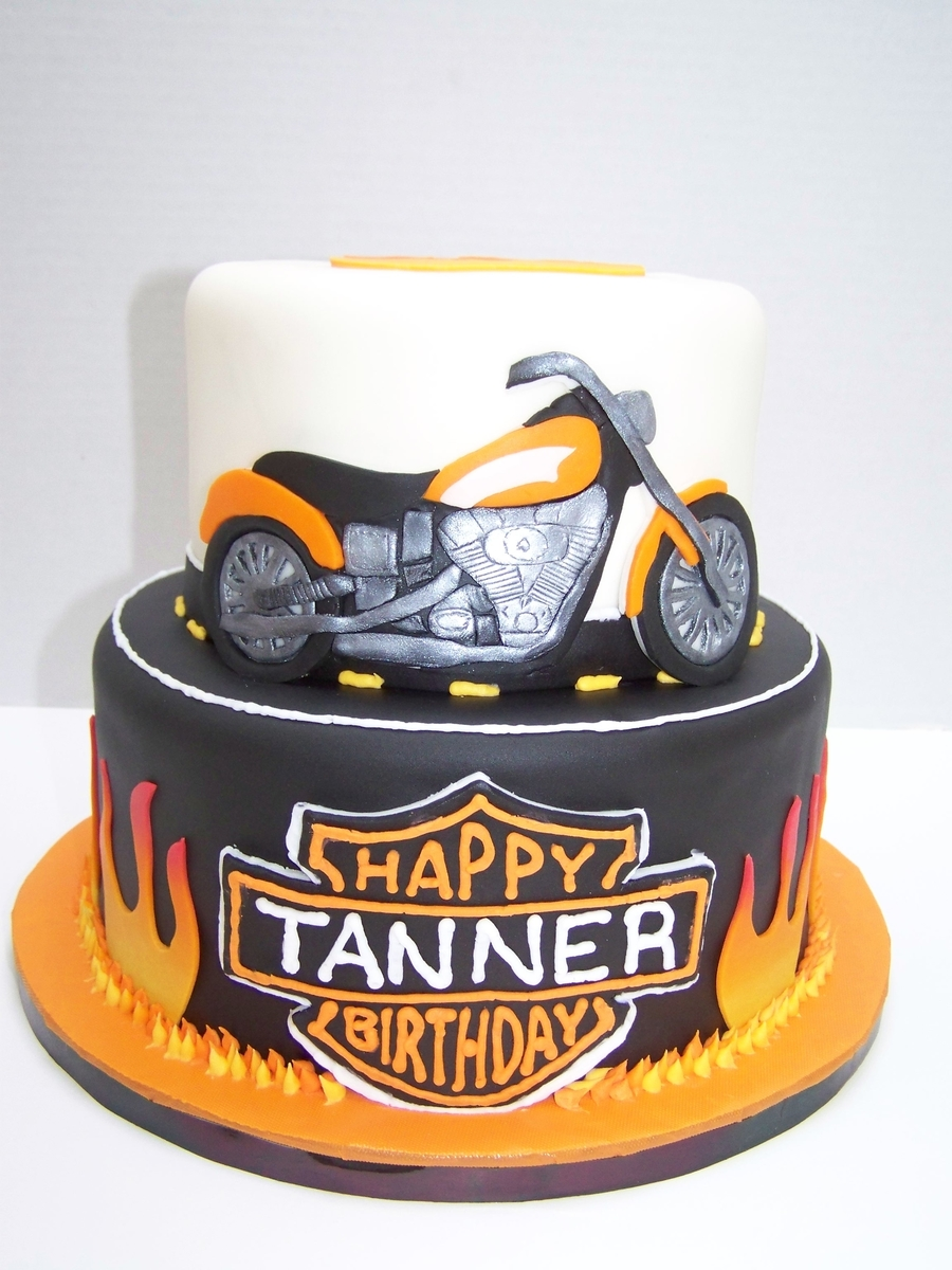 Harley cake for Motorbike template for cake