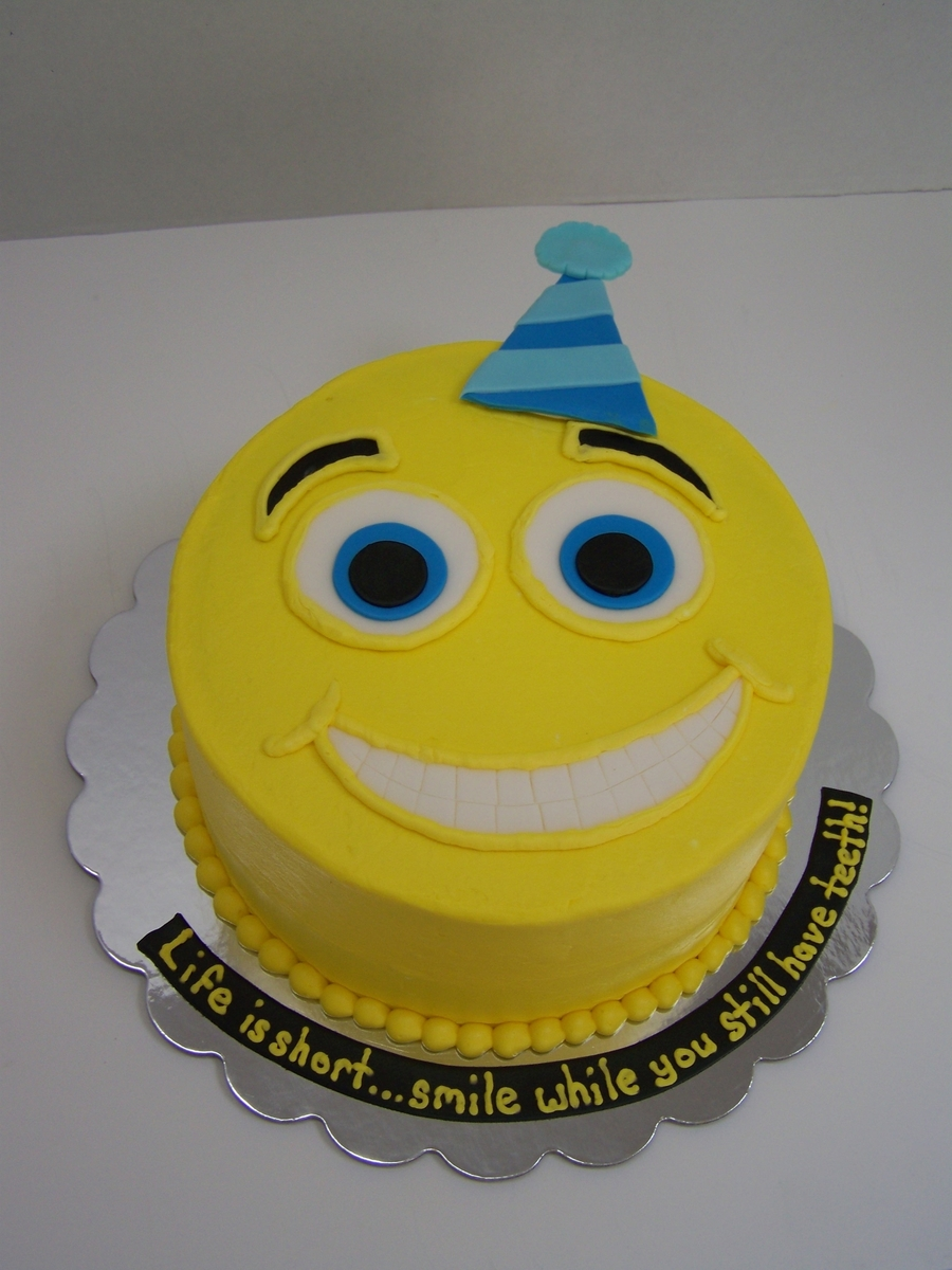 Happy Face Birthday Cake