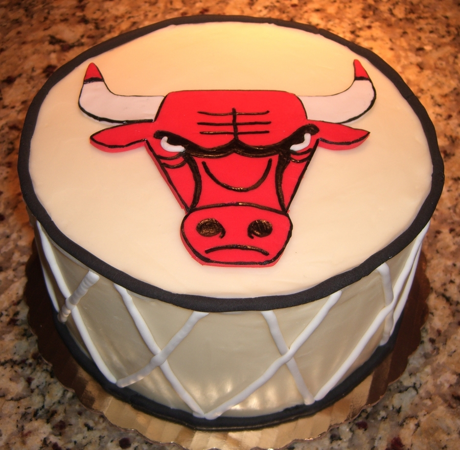 Chicago Bulls Birthday Cake Cakecentral Com