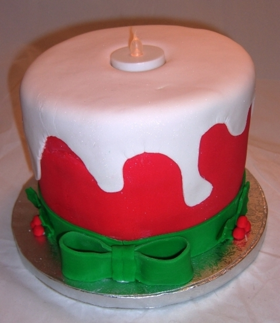 Christmas Candle Cake Images : Candle Christmas Cake - CakeCentral.com