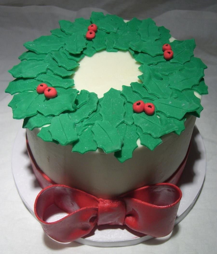 Christmas Wreath Centerpiece Cake On Cake Central