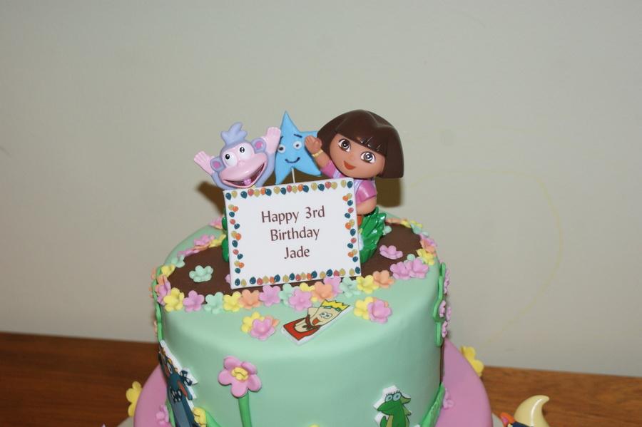 Dora Explorer Birthday Cake CakeCentralcom