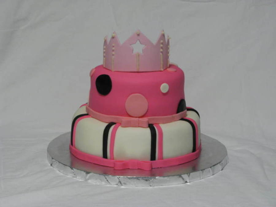 Pink Crown Cake on Cake Central