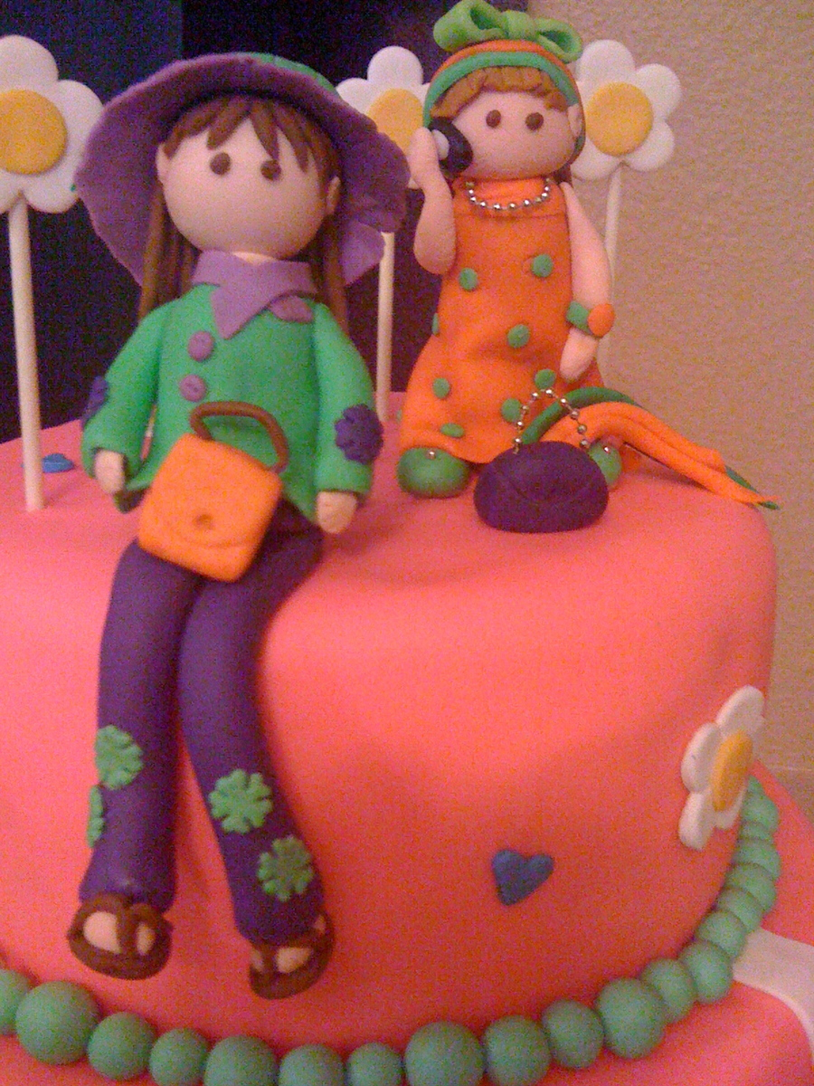 Girls In Fondant  on Cake Central
