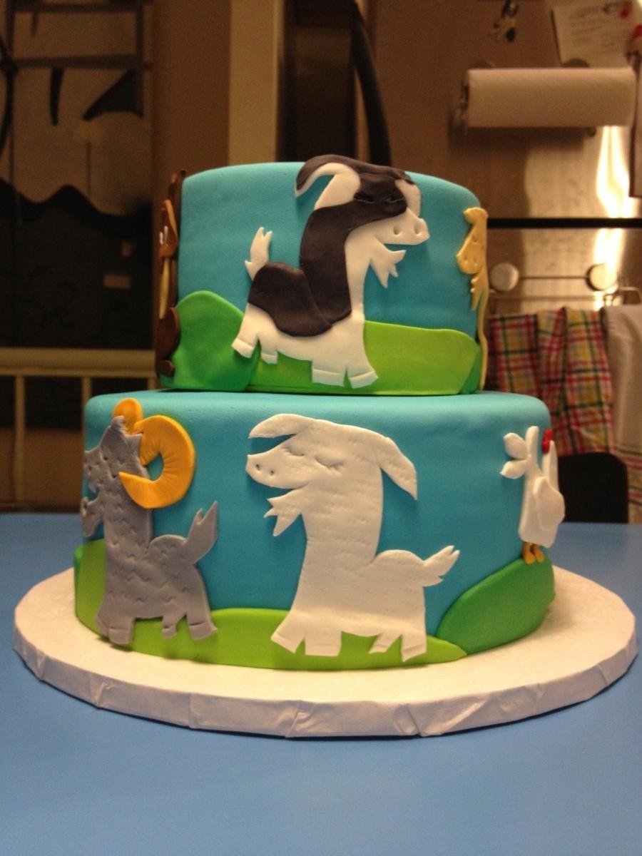 Goat Farm Birthday Cake Cakecentral Com