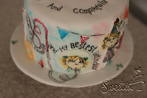 Charlie And Lola Birthday Cake (Painted) - CakeCentral.com