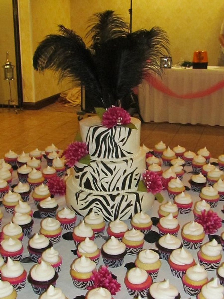 Zebra Wedding Cake on Cake Central