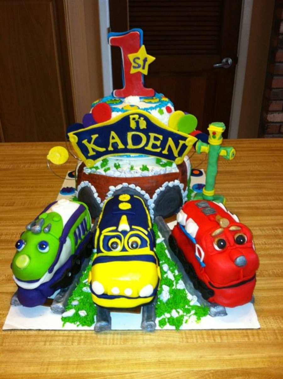 Chuggington First Birthday Cake CakeCentralcom - Chuggington birthday cake