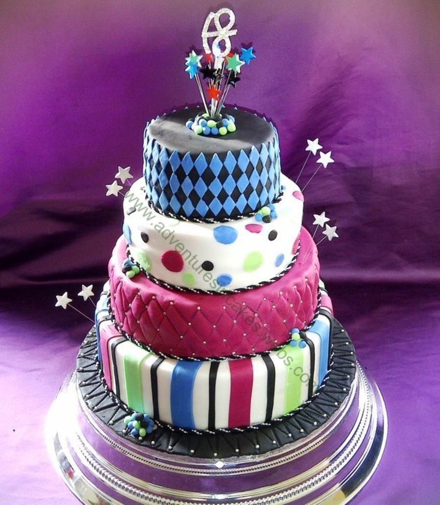 Awe Inspiring 18Th Birthday Cake 4 Tier Cakecentral Com Personalised Birthday Cards Paralily Jamesorg