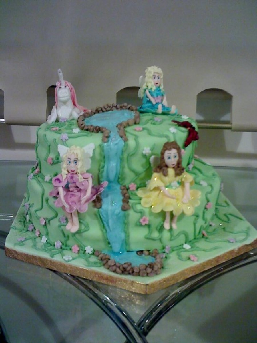 Fairies And Unicorn Cake Cakecentral Com
