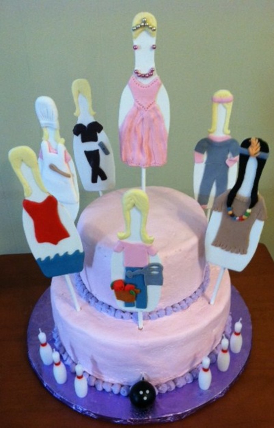 Bowling Pin People on Cake Central