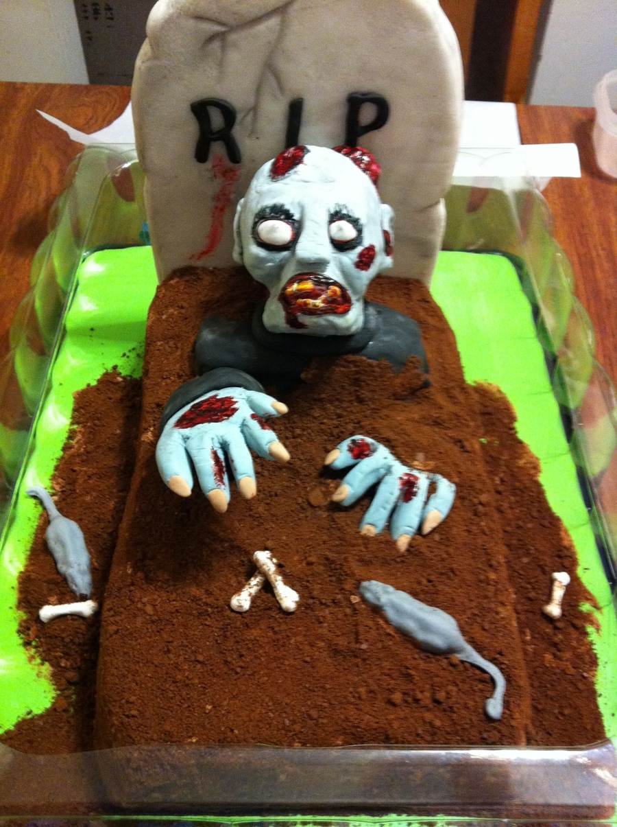 Zombie Cake Decorating Ideas