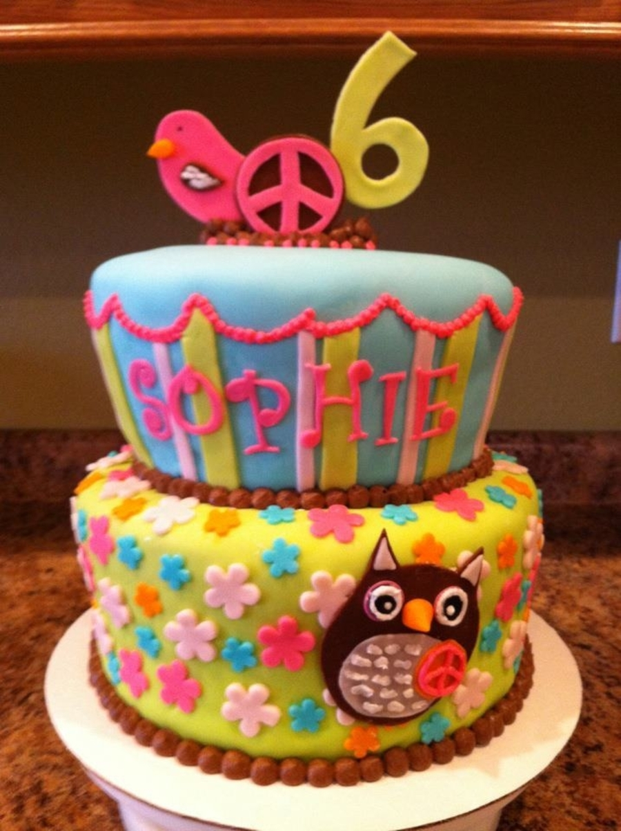 Groovy Owl Cake on Cake Central