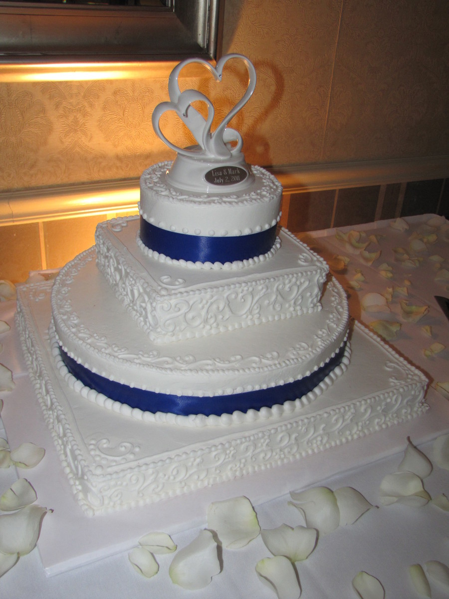 Royal Blue Wedding Cake Cakecentral Com