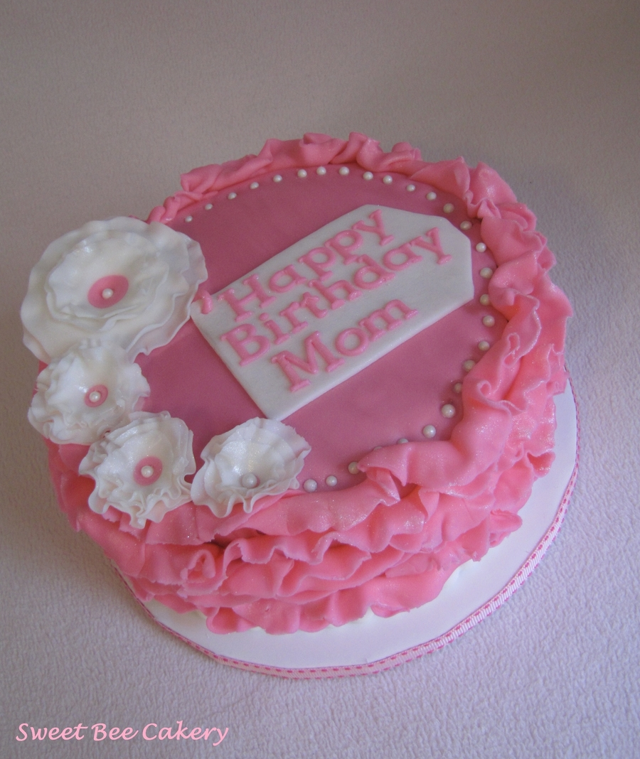 Pink Ruffles And Ruffle Flowers on Cake Central