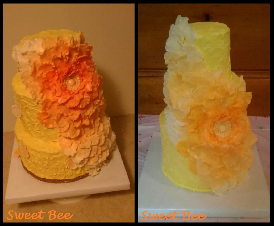 Shades Of Orange. A Cake Disaster Turned Cake Save... on Cake Central
